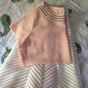 Baby pink outfit great for Easter!